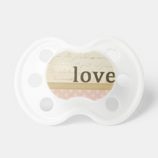 SCRAPBOOKING FLORAL LOVE VINTAGE COUNTRY ROMANTIC PACIFIERS