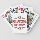 Scrapbooking hace vida feliz baraja cartas de poker
