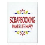 Scrapbooking hace vida feliz invitación 13,9 x 19,0 cm