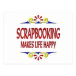 Scrapbooking hace vida feliz tarjeta postal
