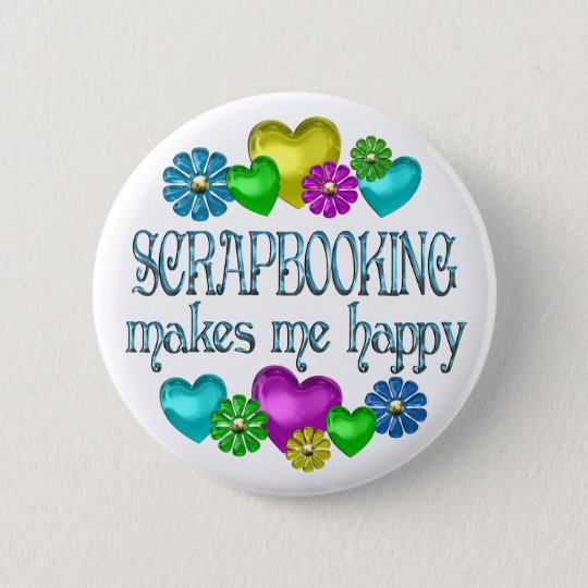 Scrapbooking Happiness Button