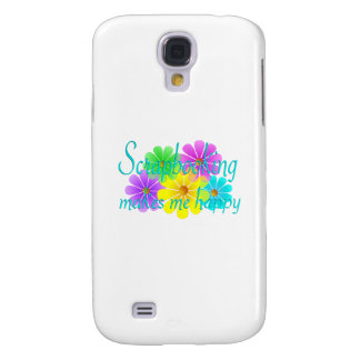 Scrapbooking Happiness Flowers Samsung Galaxy S4 Cases