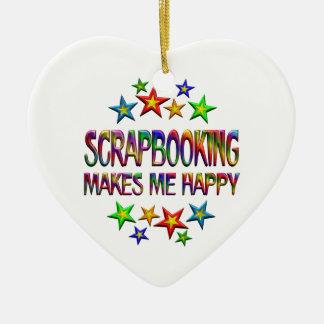 Scrapbooking Happy Ceramic Ornament