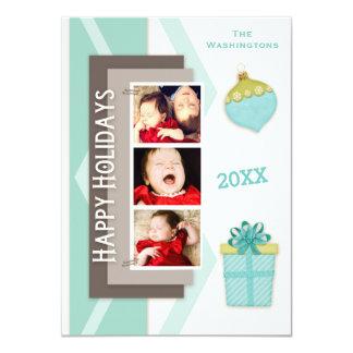 Scrapbooking Happy Holidays Photo Card
