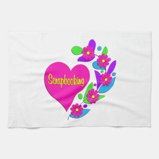 Scrapbooking Heart Towel