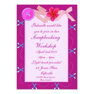 Scrapbooking/invitación 2 del fiesta del arte invitación 12,7 x 17,8 cm