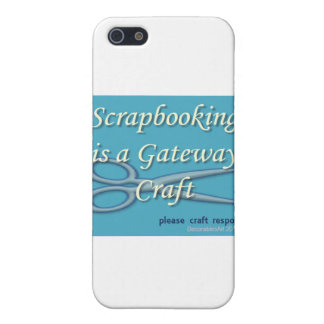 Scrapbooking is a gateway craft blue iPhone SE/5/5s cover