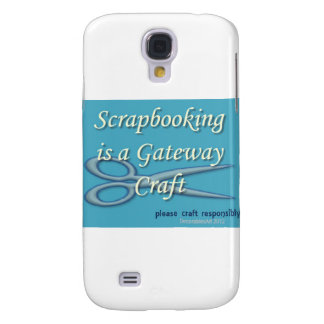 Scrapbooking is a gateway craft blue samsung galaxy s4 case