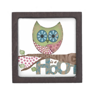 Scrapbooking is a Hoot Premium Jewelry Boxes