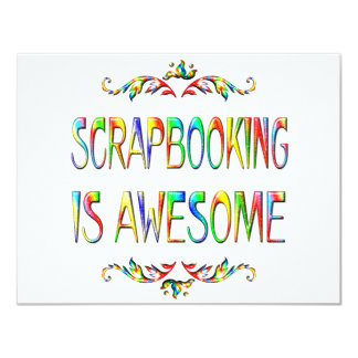 Scrapbooking is Awesome 4.25x5.5 Paper Invitation Card