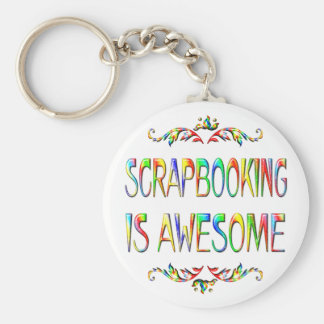 Scrapbooking is Awesome Basic Round Button Keychain