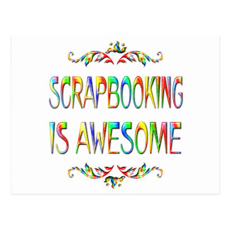 Scrapbooking is Awesome Postcard