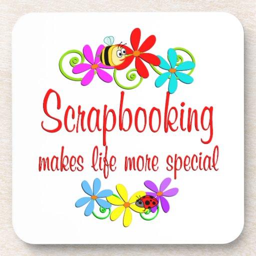 Scrapbooking is Special Drink Coasters