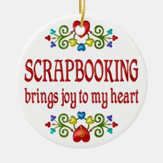 Scrapbooking Joy Ceramic Ornament