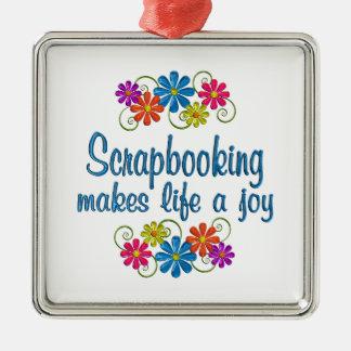 Scrapbooking Joy Metal Ornament