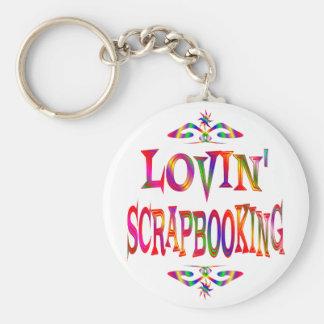 Scrapbooking Lover Basic Round Button Keychain