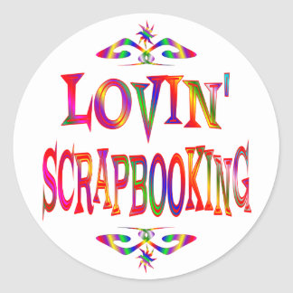Scrapbooking Lover Classic Round Sticker