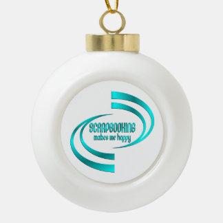 Scrapbooking Makes Me Happy Ceramic Ball Christmas Ornament