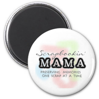 Scrapbooking Mama Tshirts and Gifts 2 Inch Round Magnet