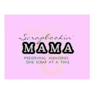 Scrapbooking Mama Tshirts and Gifts Postcard