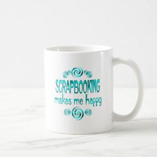 Scrapbooking me hace feliz tazas