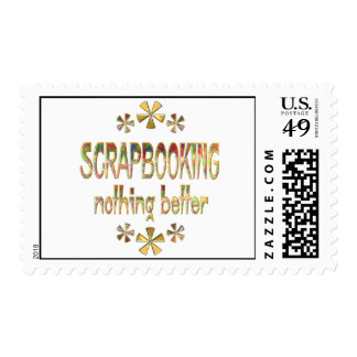 SCRAPBOOKING Nothing Better Postage Stamp