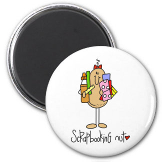 Scrapbooking Nut T-shirts and Gifts 2 Inch Round Magnet