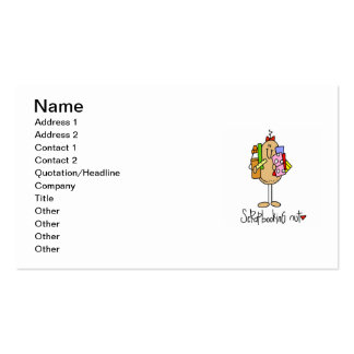 Scrapbooking Nut T-shirts and Gifts Double-Sided Standard Business Cards (Pack Of 100)
