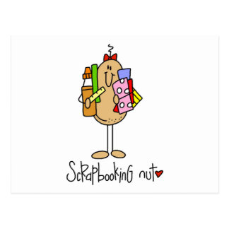 Scrapbooking Nut T-shirts and Gifts Postcard