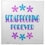 Scrapbooking para siempre servilleta de papel