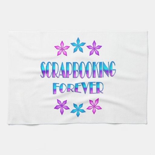 Scrapbooking para siempre toalla