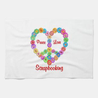 Scrapbooking Peace Love Kitchen Towels