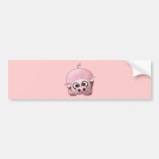 SCRAPBOOKING PINK PIG PIGGIE PIGLET CUTE CARTOON F BUMPER STICKER