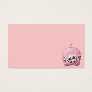 SCRAPBOOKING PINK PIG PIGGIE PIGLET CUTE CARTOON F BUSINESS CARD