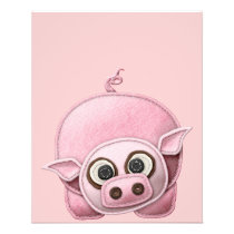 SCRAPBOOKING PINK PIG PIGGIE PIGLET CUTE CARTOON F FLYER