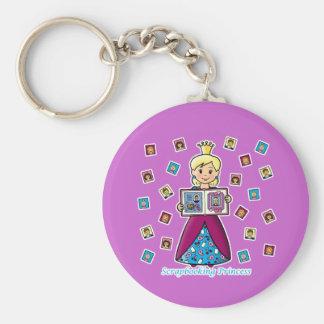 Scrapbooking Princess Keychain