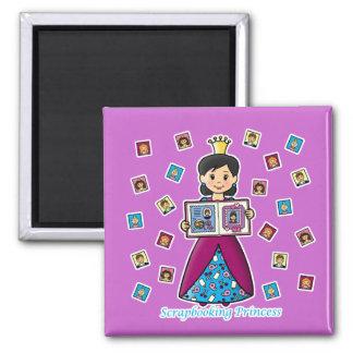 Scrapbooking Princess Magnet