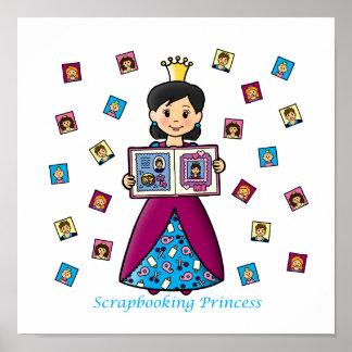 Scrapbooking Princess Poster