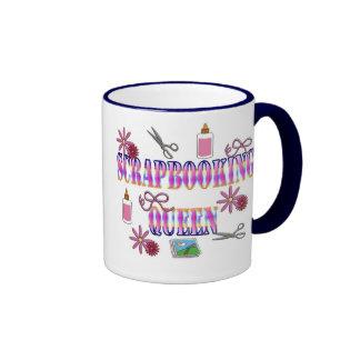 Scrapbooking Queen Ringer Coffee Mug