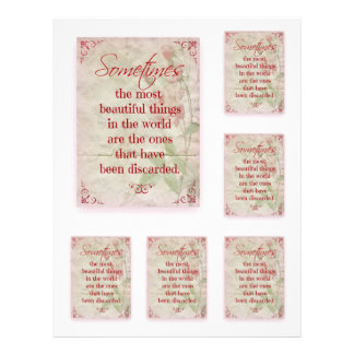 Scrapbooking Quotation Beautiful Things Pink Roses Letterhead