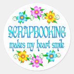 Scrapbooking Smiles Round Sticker