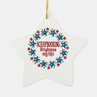 Scrapbooking Stars Ceramic Ornament