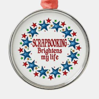 Scrapbooking Stars Metal Ornament