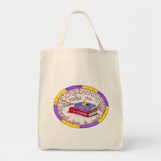 Scrapbooking y camisetas y regalos el cocinar bolsa tela para la compra