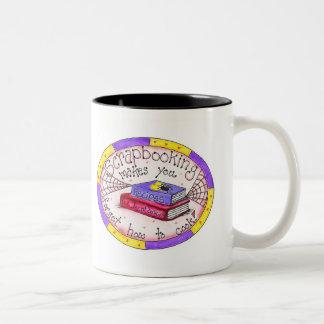 Scrapbooking y el cocinar taza de café