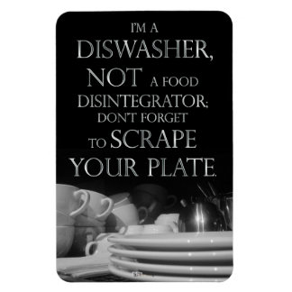 Scrape Your Plate 2 (Dishwasher Magnet) Magnet