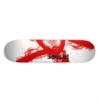 Scraped - Paint Skateboard