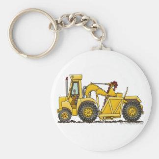 Scraper Dirt Mover Excavator Construction Key Chai Keychain