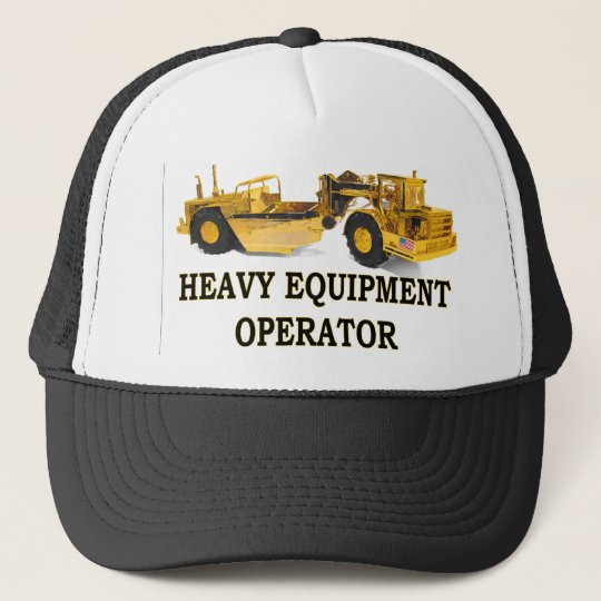 SCRAPER EARTH MOVER TRUCKER HAT