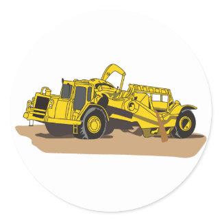 Scraper Truck Classic Round Sticker